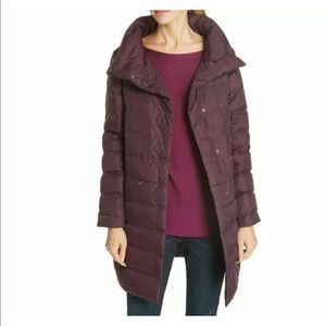Eileen Fisher Stand Collar Cocoon Down Coat, 2X 3x
